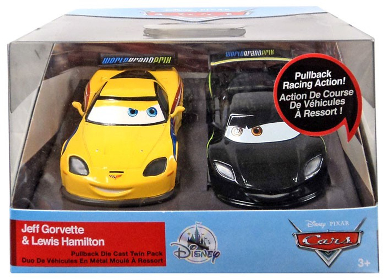 Cars Pixar Lewis Hamilton Disney Pixar Cars Cars 3 Pull N Race Jeff Gorvette Lewis Hamilton Exclusive Diecast Car 2 Pack