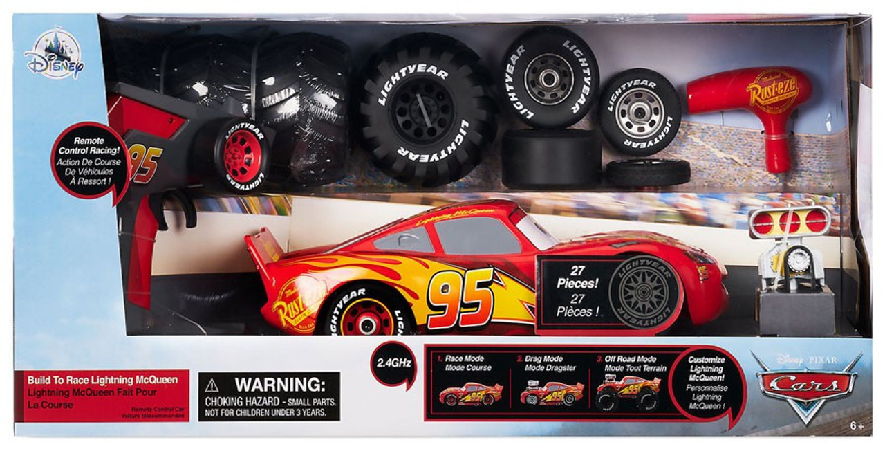 Off Road Lightning Mcqueen Disney Pixar Cars Build To Race Lightning Mcqueen Exclusive R C Remote Control Car