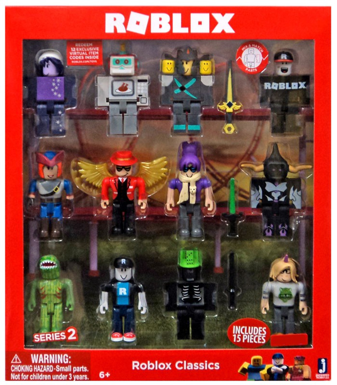 Online Pack Series 2 Roblox Classics Exclusive Action Figure 12 Pack Includes 12 Online Item Codes