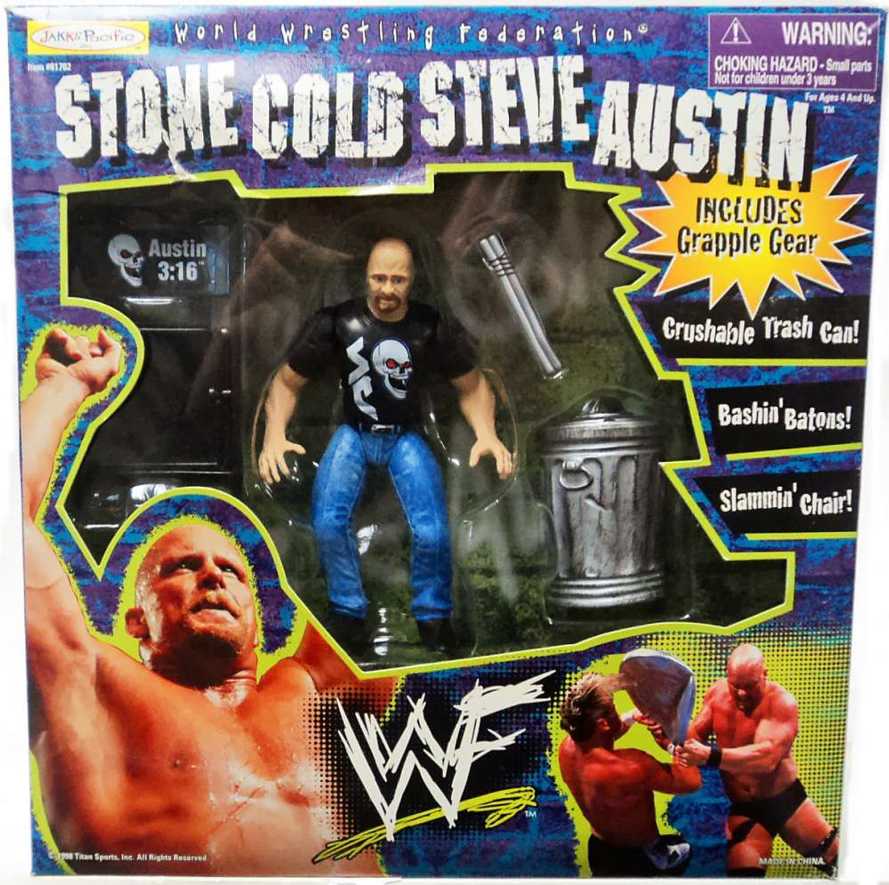 Wrestling Bettwäsche Spielzeug Wwe Wrestling Police Batton Action Figure Accessory Black Loose Triadecont.com.br