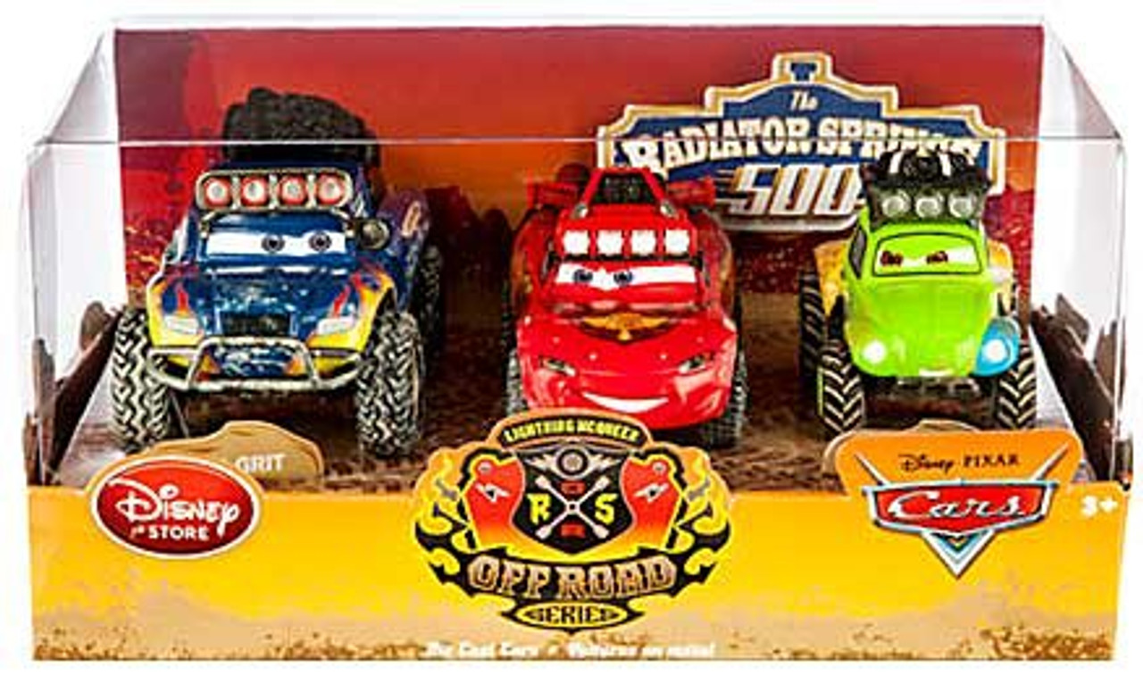 Off Road Lightning Mcqueen Disney Pixar Cars Lightning Mcqueen Off Road Series Blue Grit Baja Mcqueen Stanley Mater Exclusive Diecast Car 3 Pack