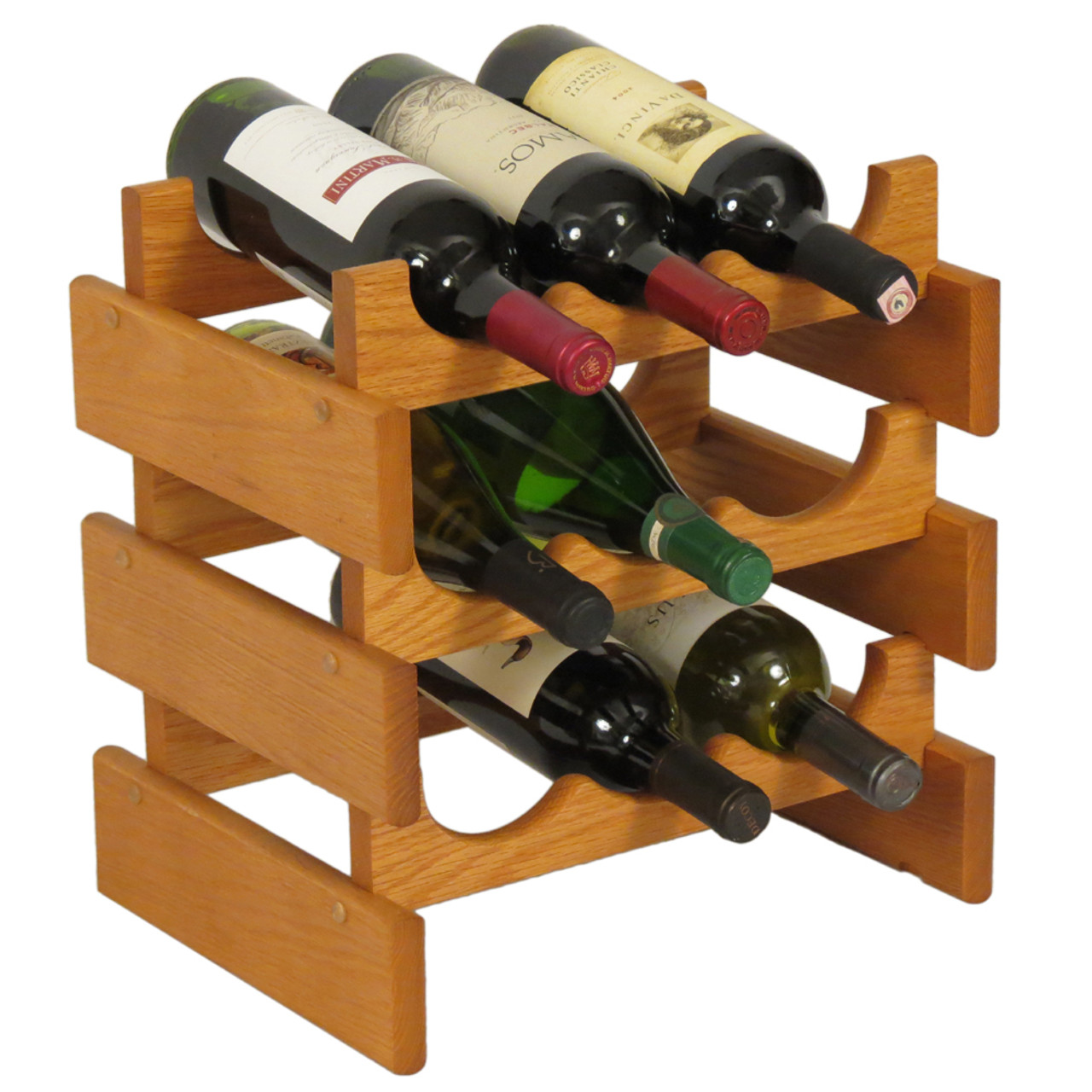 Wooden Bottle Rack Wooden Mallet Wr33 Dakota 9 Bottle Wine Rack