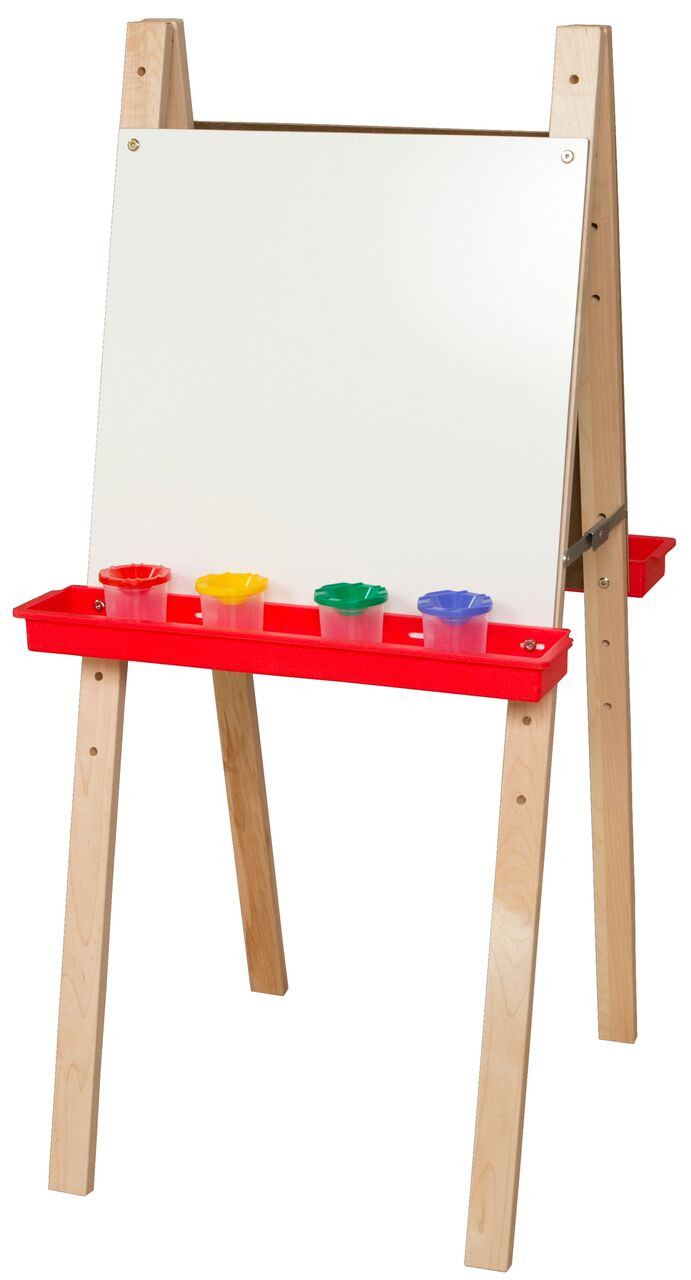 Easels Wood Designs Wd18925 Double Adjustable Easels With Markerboard