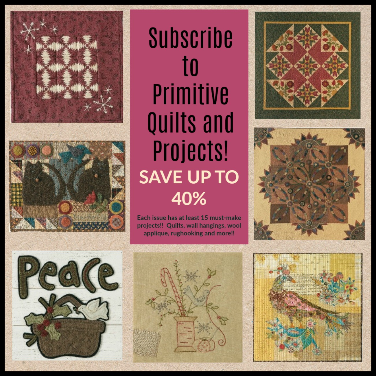 Quilt Online Kaufen Primitive Quilts And Projects Magazine