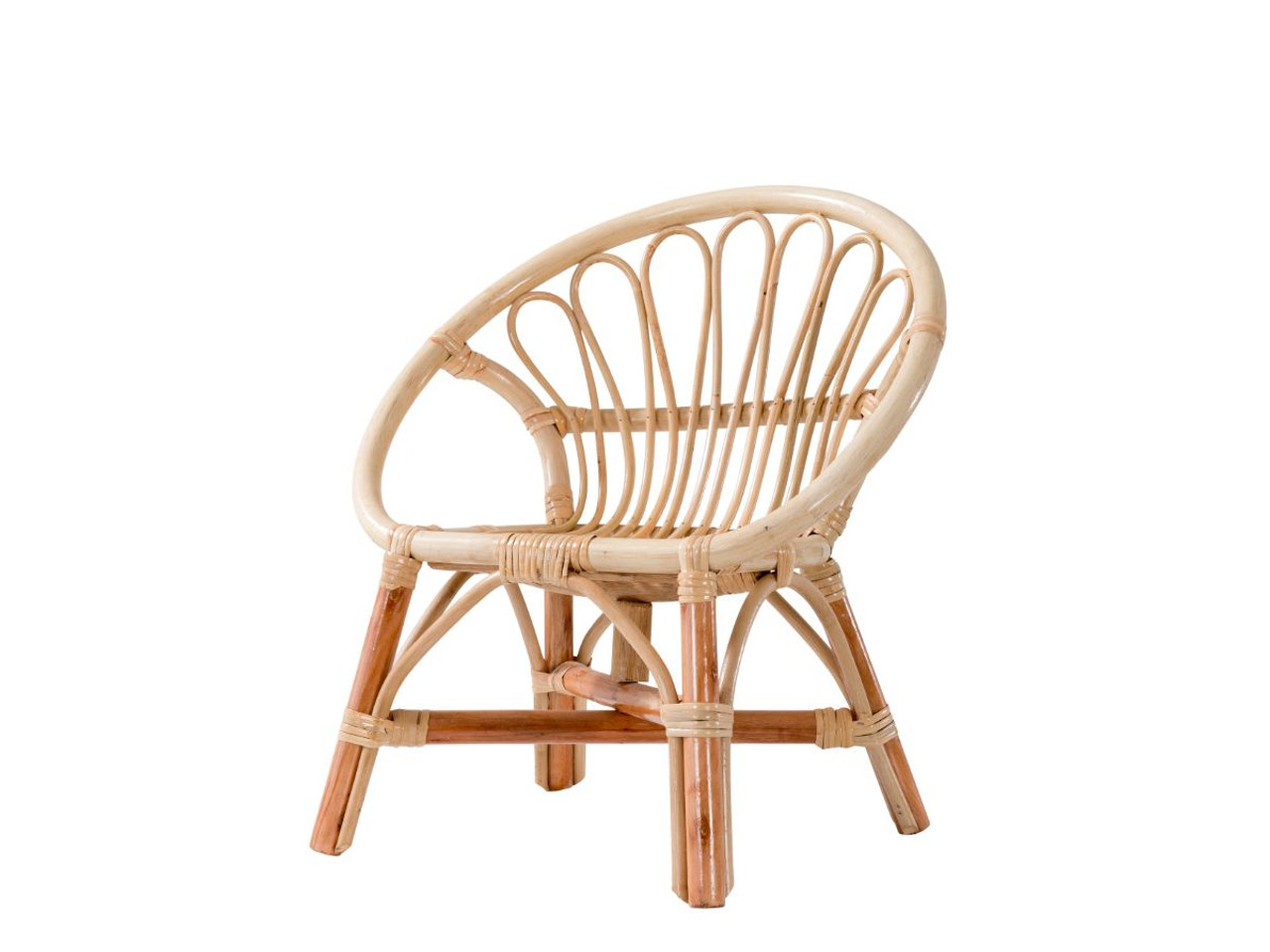 Mocka Kids Rattan Armchair Round Kids Furniture