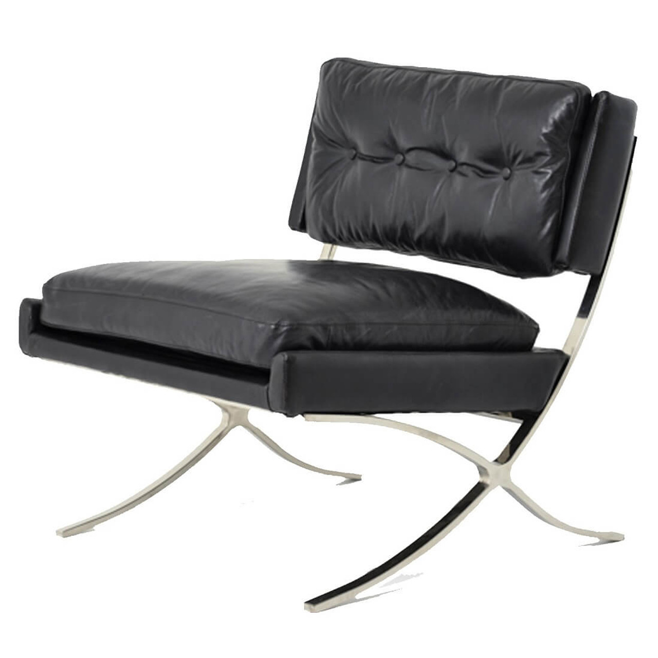 Leather Lounge Heathrow Vintage Black Leather Lounge Chair