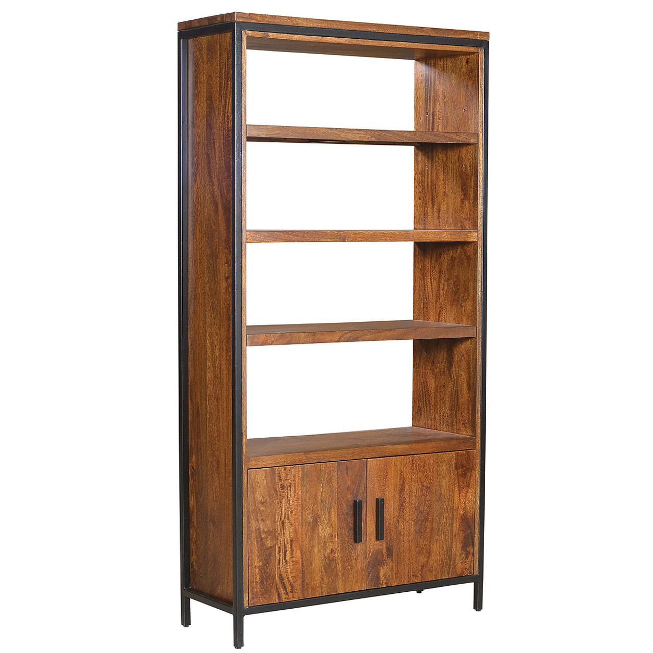 Bookcase Cabinet Foundry Parson Metal Wood Bookcase Cabinet