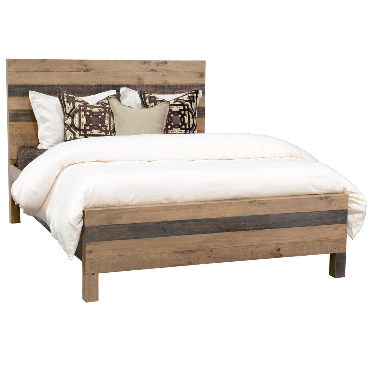 Queen Bed Sale Farmhouse Rustic Wood Platform Queen Bed