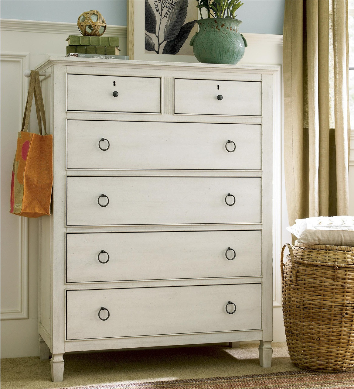 6 Drawer Chest Of Drawers Country Chic Maple Wood 6 Drawers Chest White