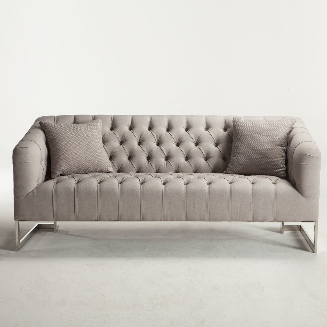 Sofa Modern Austin Modern Tufted Sofa Grey
