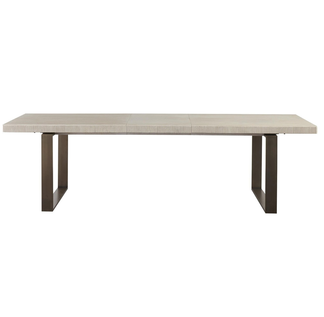 Extending Oak Table Modern Oak Wood Bronze Metal Leg Extending Dining Table