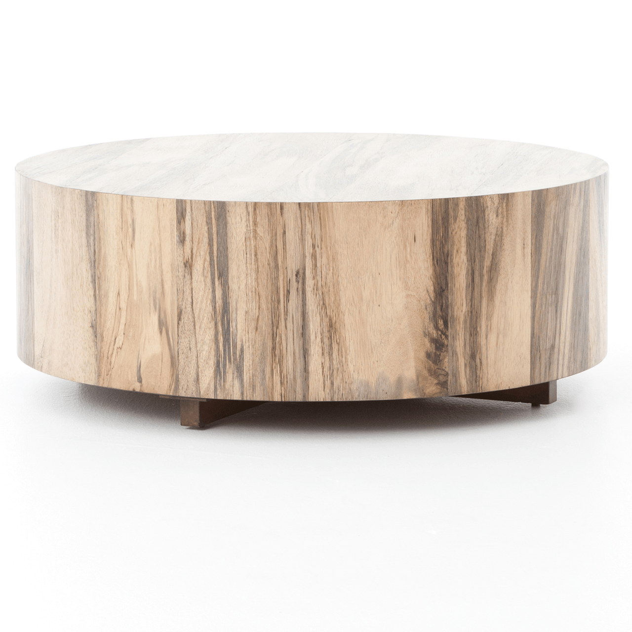 Hudson Sofa Collection Reviews Hudson Spalted Rustic Wood Block Round Coffee Table
