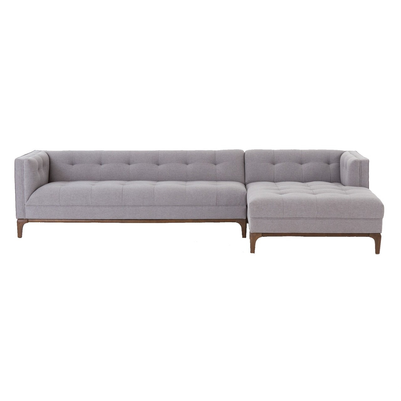 Sofa Modern Dylan Mid Century Modern Tufted 2 Piece Sectional Sofa
