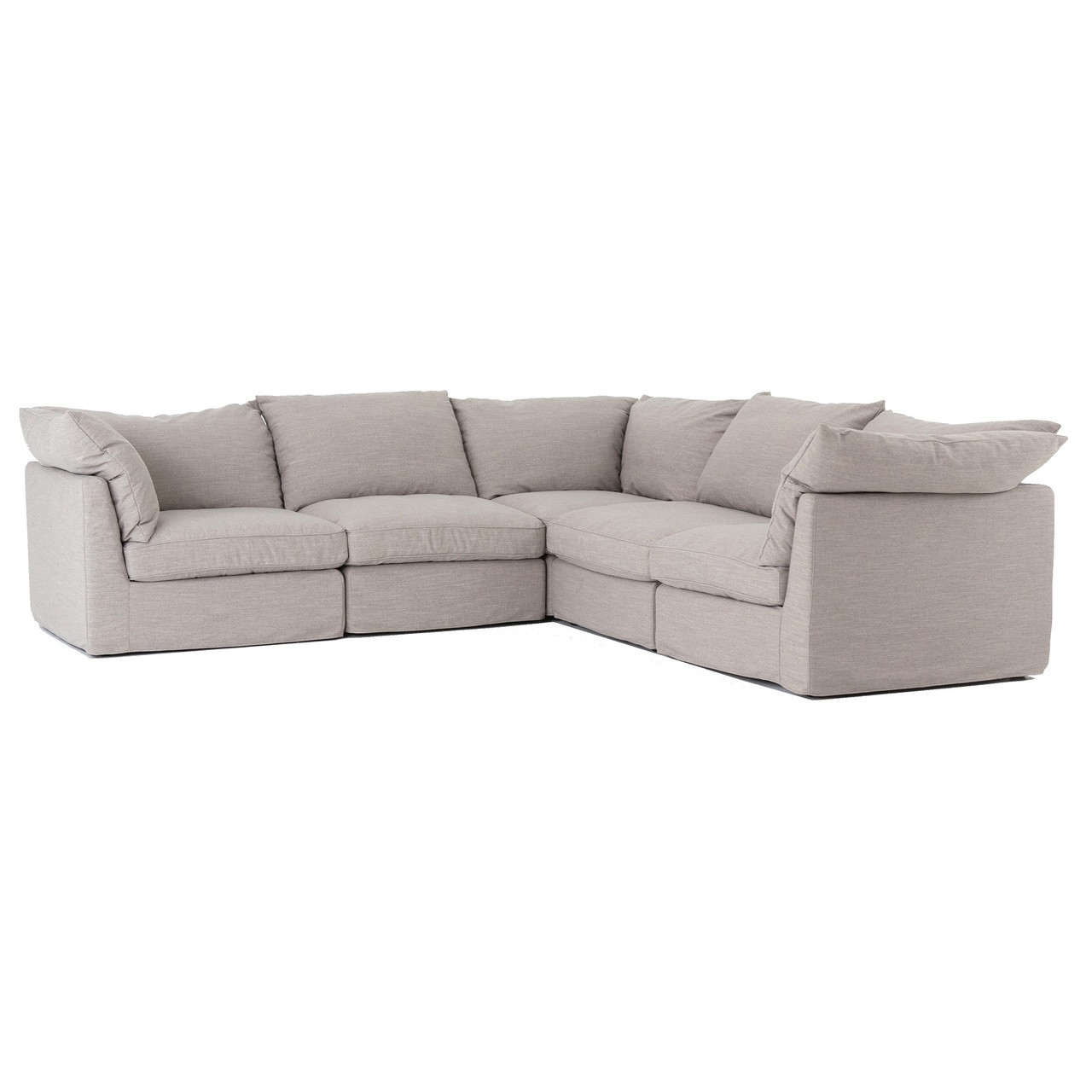 Sofa L Images Paul Coastal Grey L Shaped 5 Pc Modular Corner Sectional