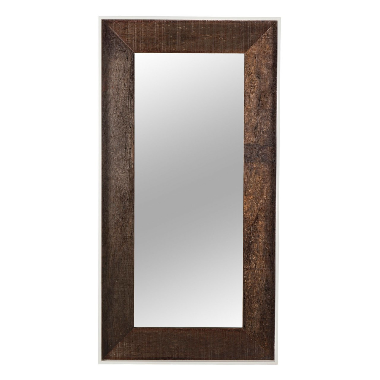 White Floor Mirror Cardosa Reclaimed Wood White Lacquer Floor Mirror
