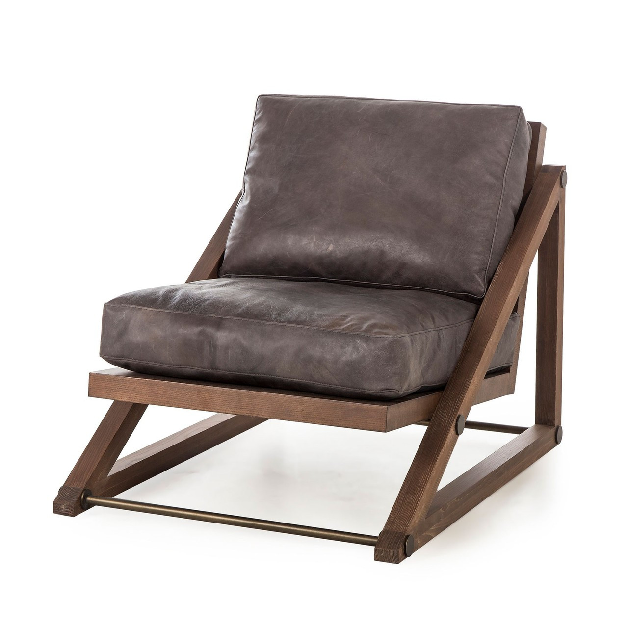 Leather Lounge Teddy Espresso Leather Lounge Chair
