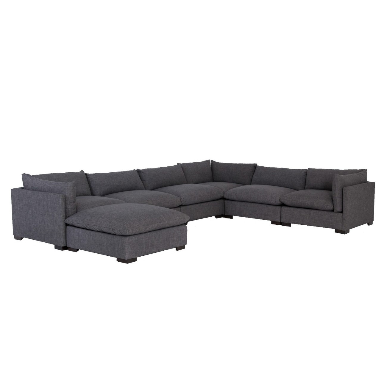 Sofa L Images Westworld Modern Gray 7 Piece L Shape Sectional Sofa 156