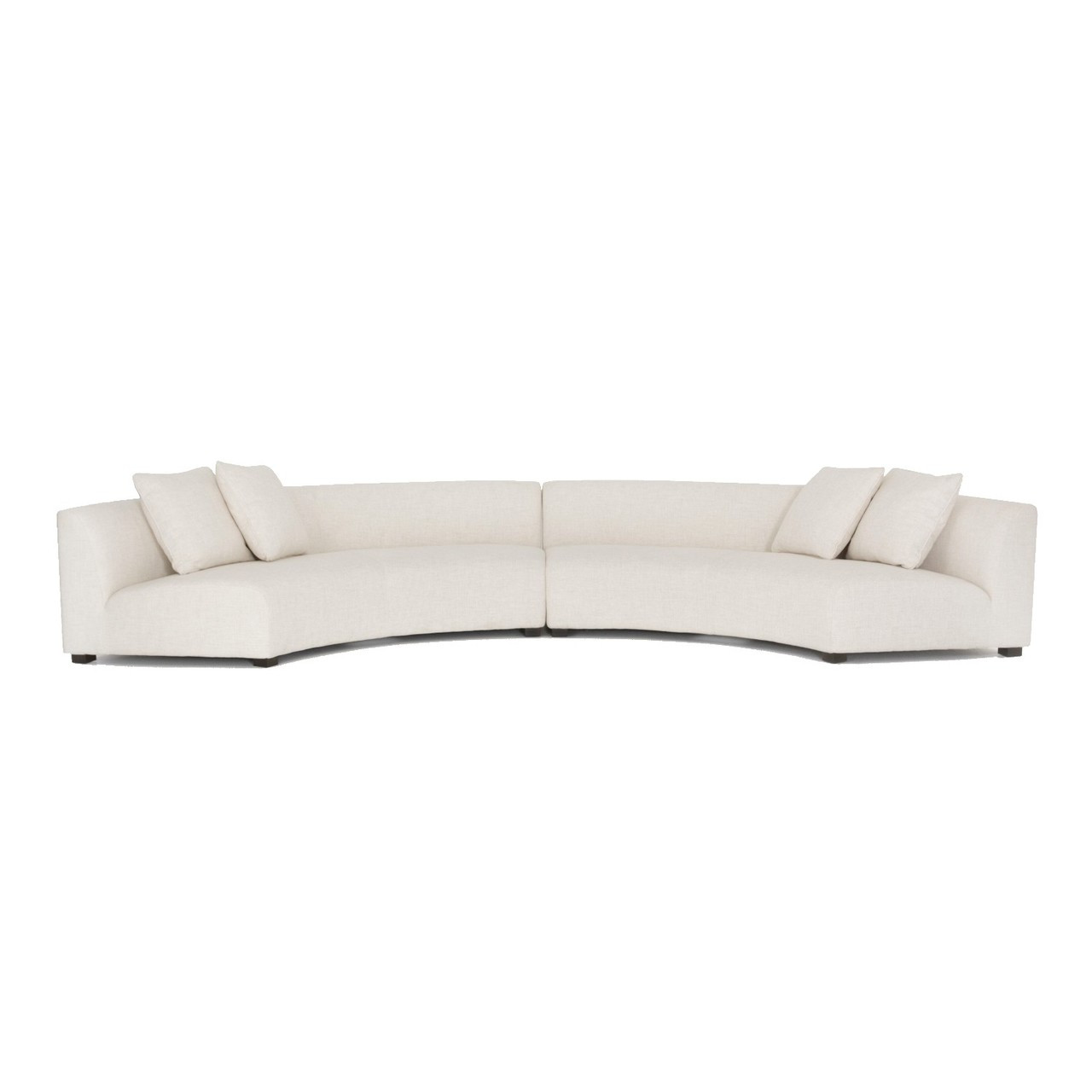 Next Sofa Measurements Liam Modern Cream 2 Piece Curved Sectional Sofa