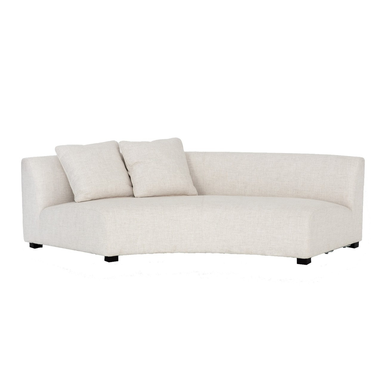 Curved Sofa Liam Modern Cream Curved Sofa 106