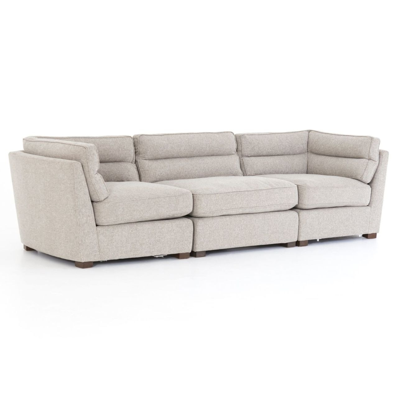 Two Sided Sofa Connell Channel Back 3 Pc Modular Sofa 114
