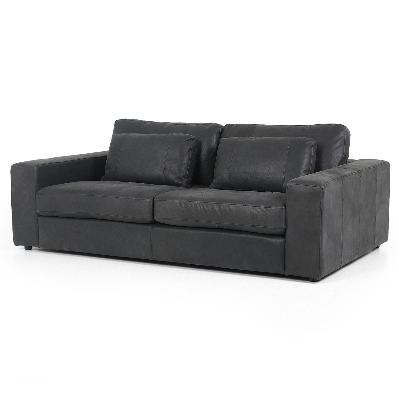 Square Sofa Bloor Black Leather Square Arm Sofa 82