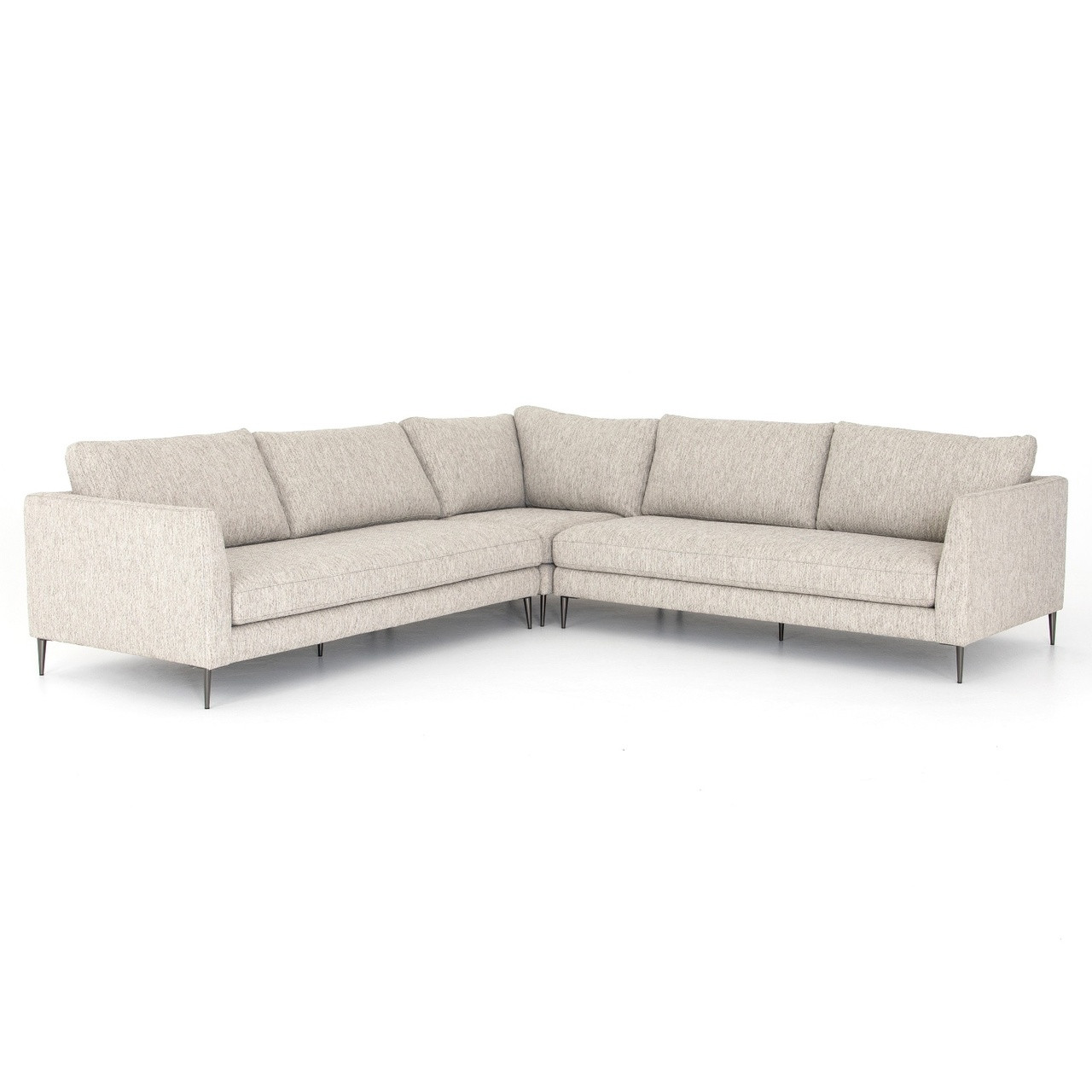 Made Sofa Reviews Kailor Modern Neutral Fabric Corner Sectional Sofa