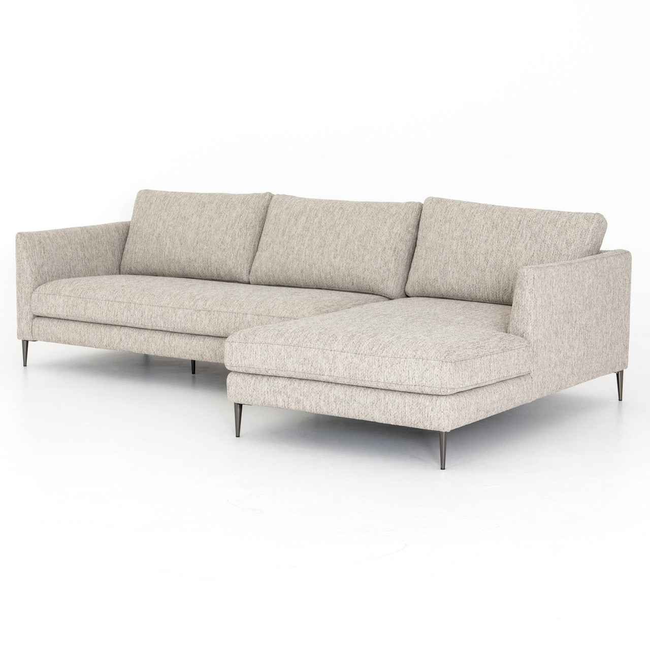 Made Sofa Reviews Kailor Modern Neutral Sectional Sofa With Right Chaise