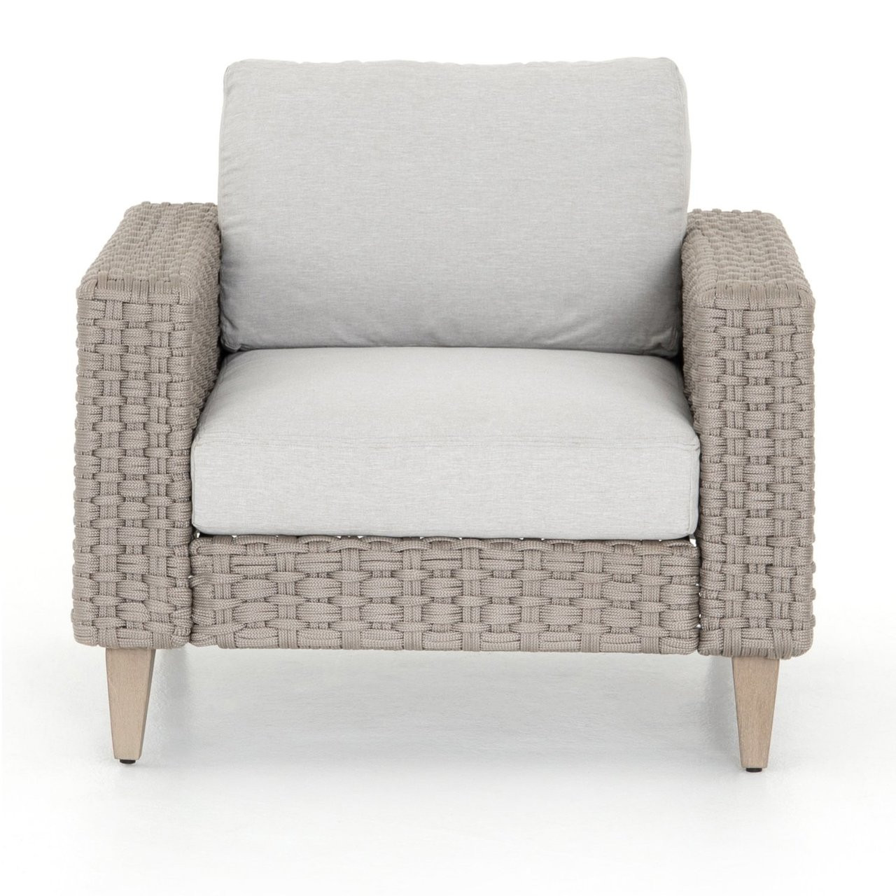 Outdoor Lounge Remi Grey Woven Rope Outdoor Lounge Chair