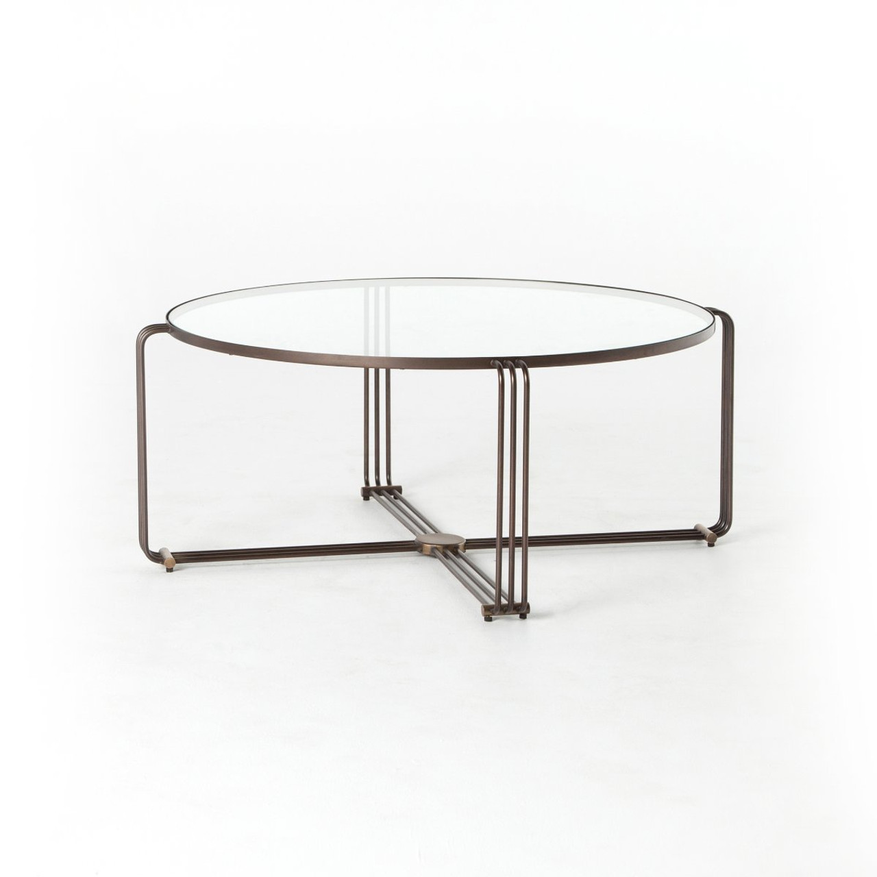 Round Glass Top Coffee Table London Round Glass Top Coffee Table 40