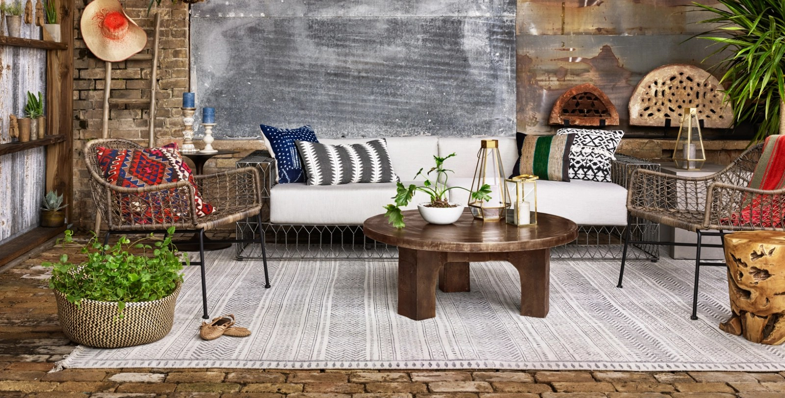 House Furniture Zin Home Eclectic Modern Industrial Style Furniture