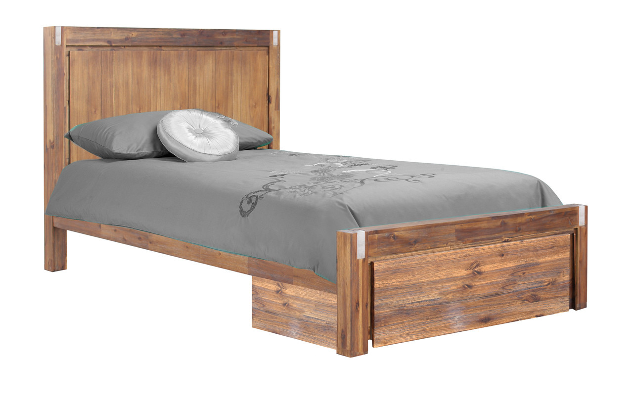 Storage Beds Australia King Single Matrix Hardwood Bed Frame With Storage Drawer Desert
