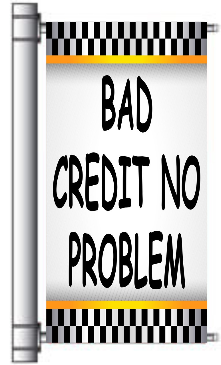 Bad Shop 24 Bad Credit No Credit Ok Light Pole Banner Kit Pb 115