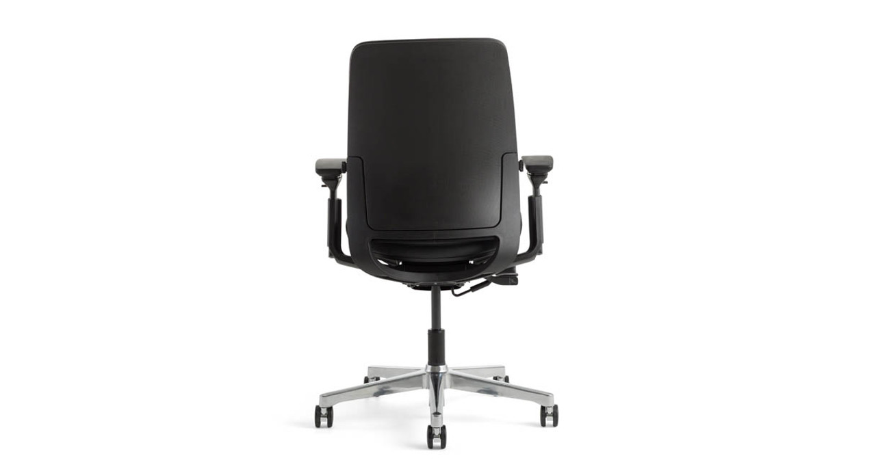 Grey Desk Chair Steelcase Amia Chair In Sewn Leather