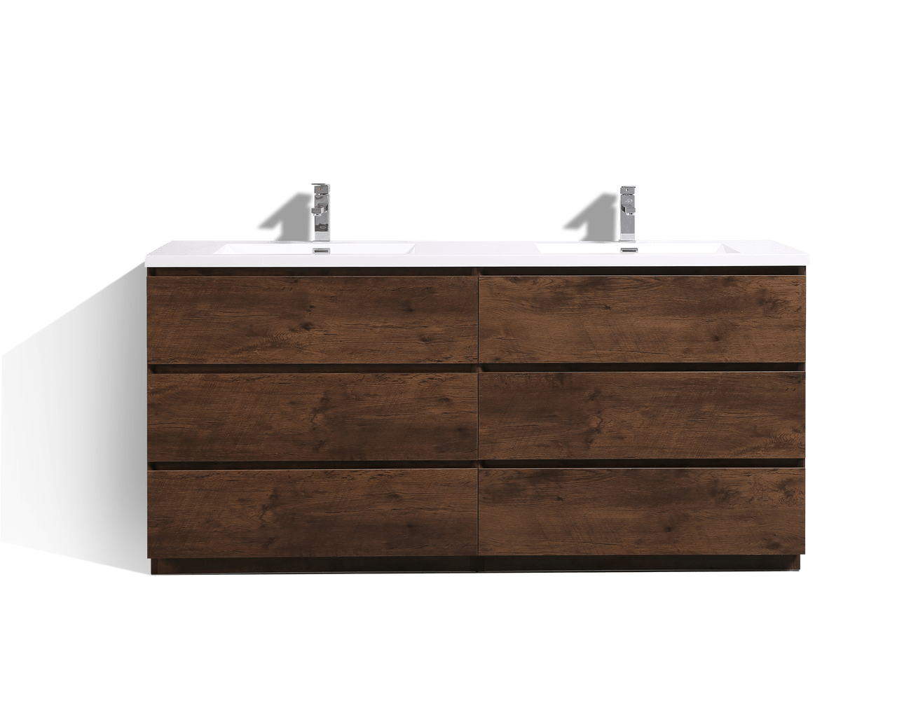Bathroom Vanity 72 Double Sink Moa 72 Double Sink Rosewood Modern Bathroom Vanity W 6 Drawers And Acrylic Sink