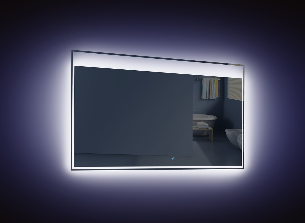 Light Bathroom Mirror Moreno Kindle 48 Inch Wall Mounted Bathroom Mirror With Led Light