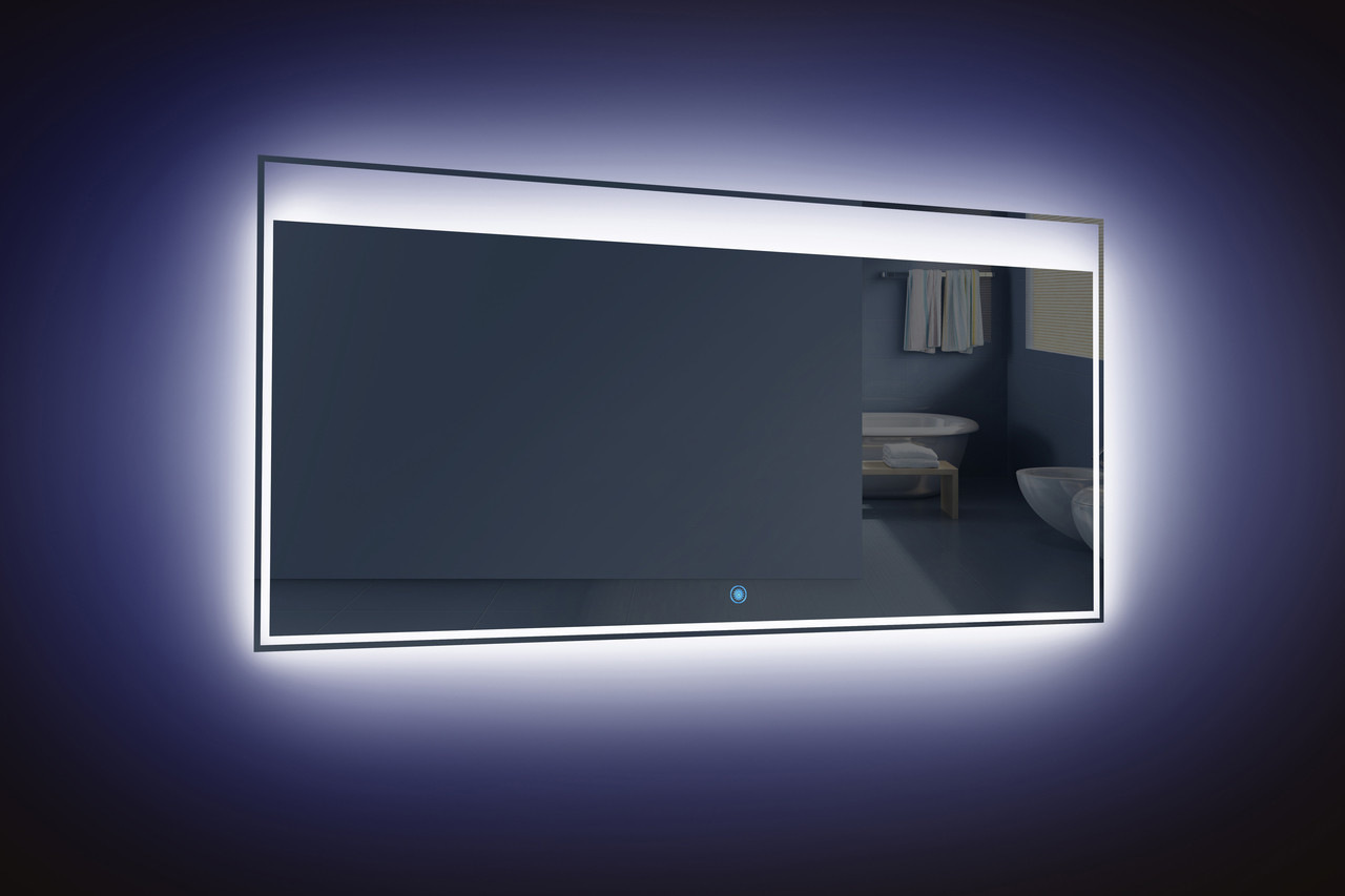 Light Bathroom Mirror Moreno Kindle 55 Inch Wall Mounted Bathroom Mirror With Led Light