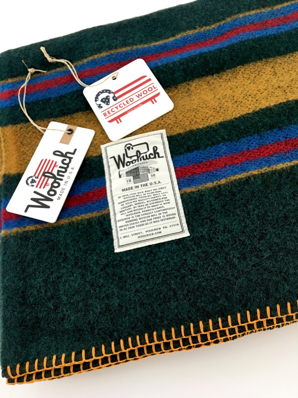 Camp Blankets Woolrich Wool Camp Blanket Green