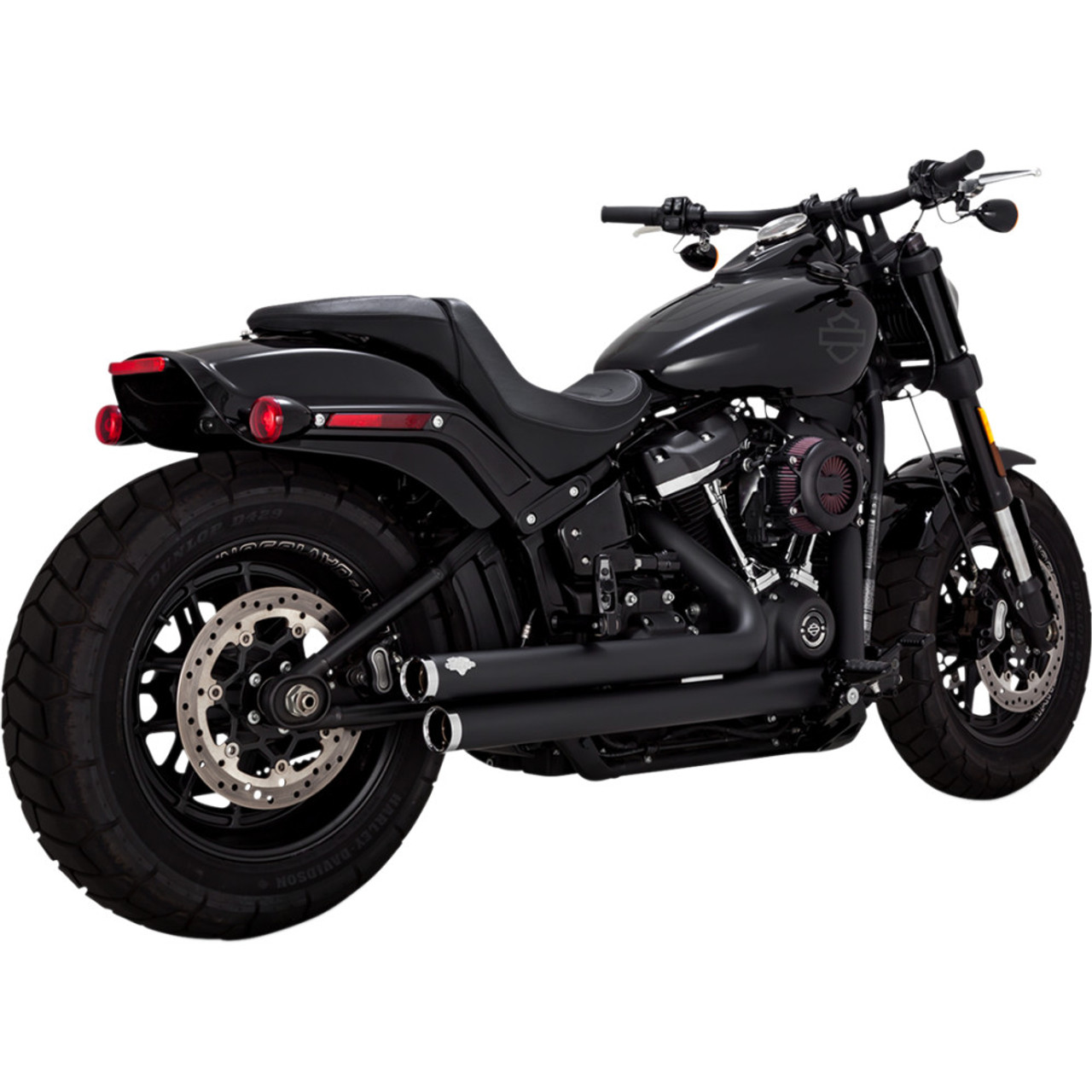 Harley Softail Vance Hines Big Shots Staggered Exhaust For 2018 2019 Harley Softail Black