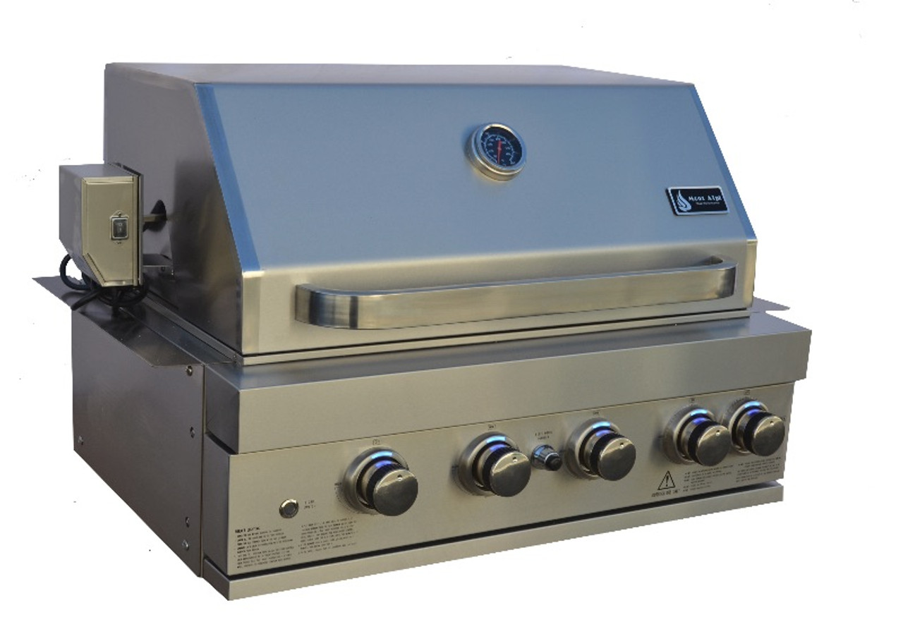 Outdoor Hartwig Mont Alpi 400 Built In Bbq Grill Stainless Steel 32 Inch