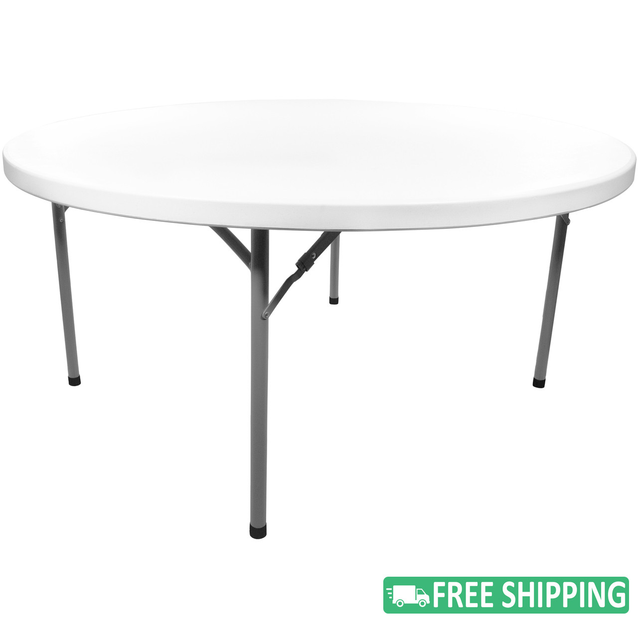 Round Plastic Tables 10 Pack Advantage 6 Ft Round White Plastic Folding Table Adv72r White 10 Seats 10 Adults
