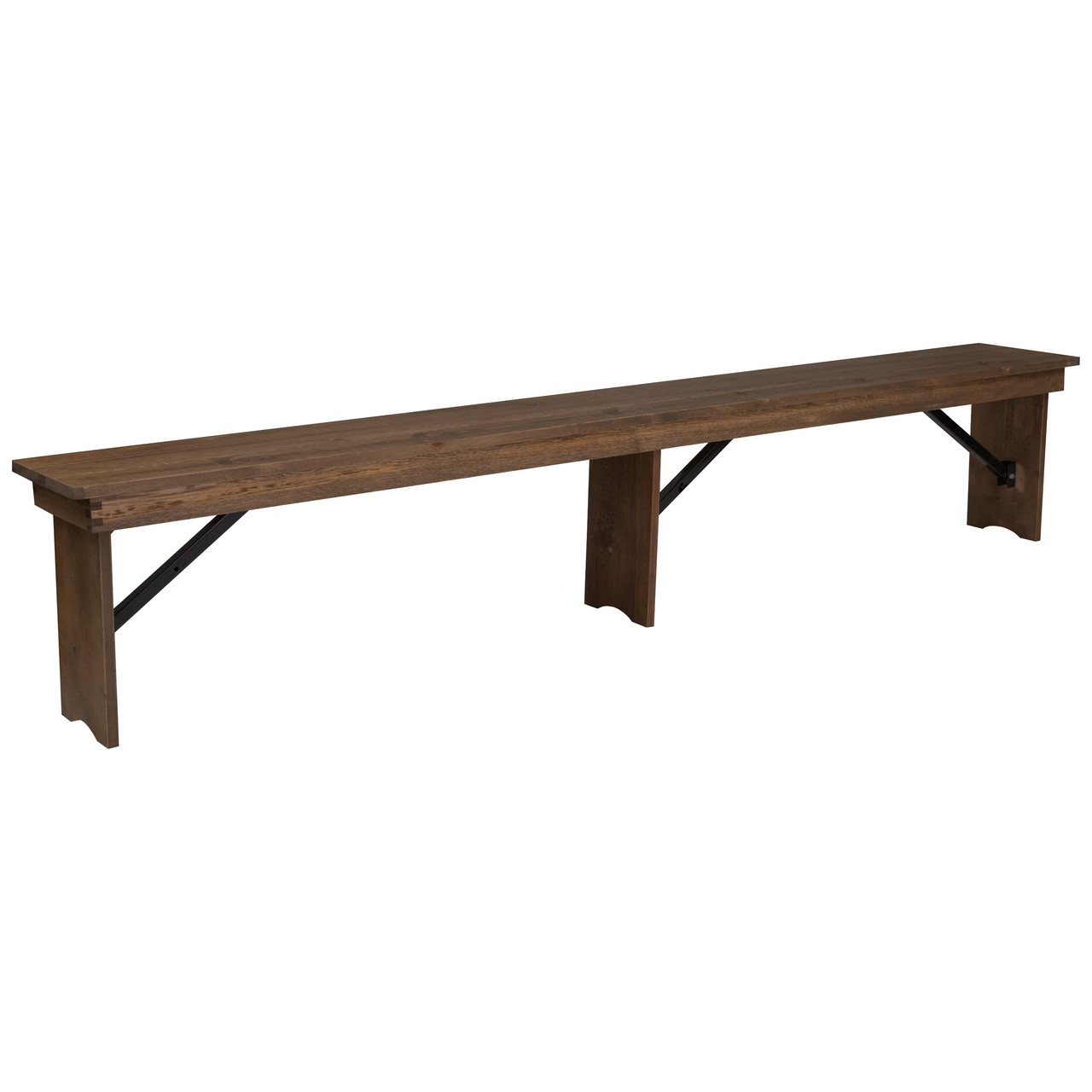 Wooden Bench Table Advantage Barn Wood Brown Farmhouse Table Bench 12 In X 96 In Ftb 1296 Ba