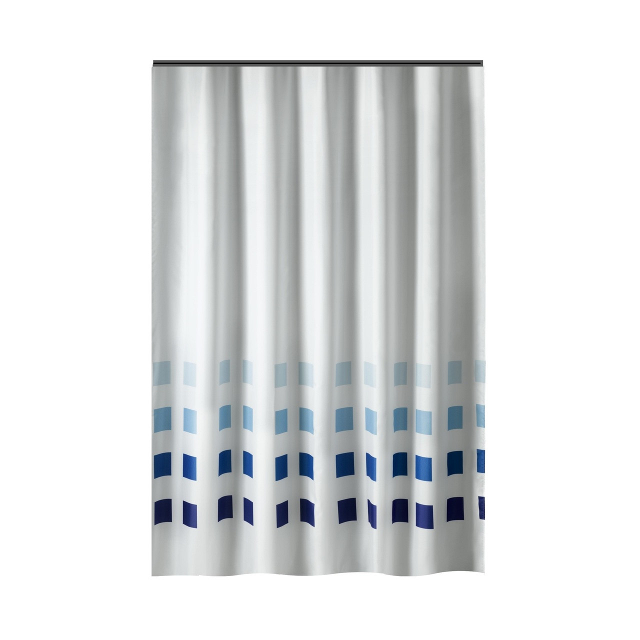Long Shower Curtain Extra Long Shower Curtain 72 X 78 Inch Gamma White With Blue Squares Fabric