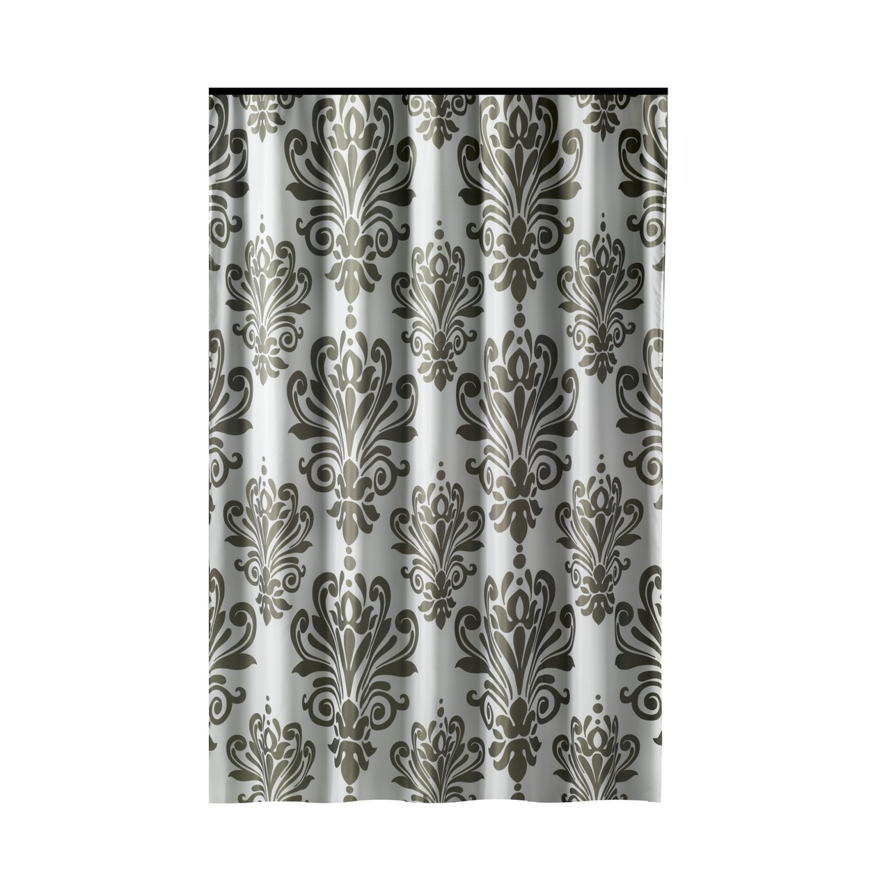 Long Shower Curtain Extra Long Shower Curtain 72 X 78 Inch Gamma Gray And White Baroque Fabric