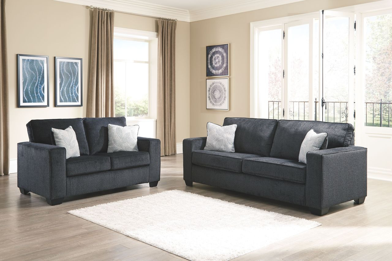The Altari Slate Sofa Loveseat Available At Royal Star Furniture Serving St Paul Mn