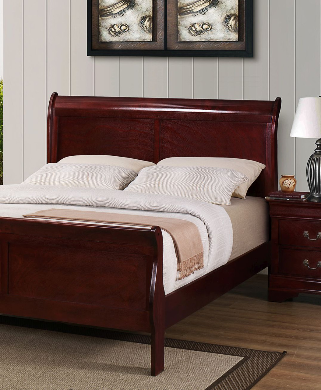 Sleigh Bed Headboard Louie Philippe Chablis Or Onyx Sleigh Bed