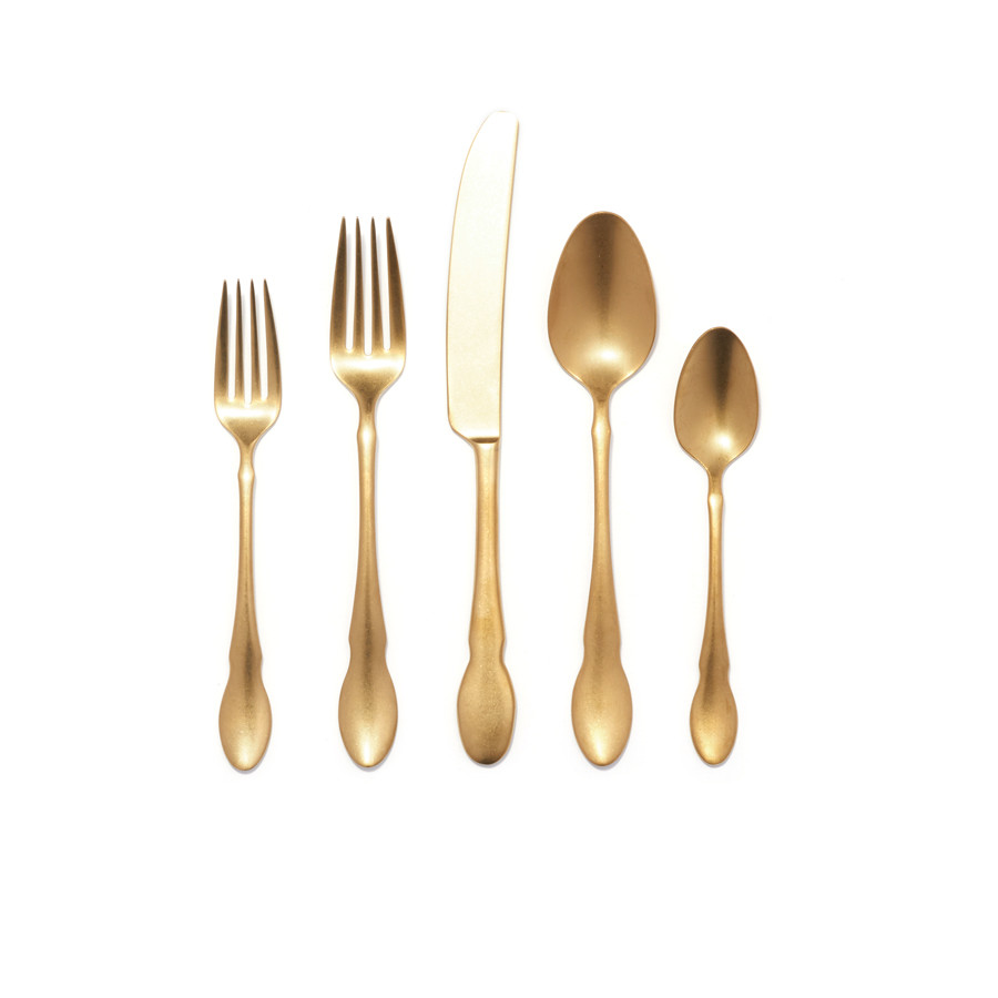 Gold Cutlery Sets Birch 20 Piece Set