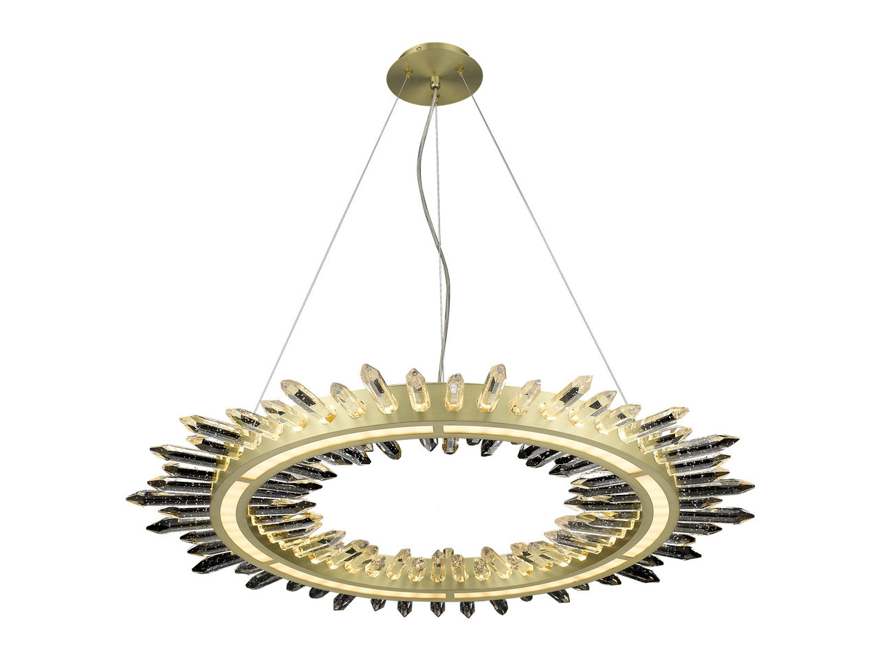 Led Chandelier Avenue Lighting Hf3034 Bb Aspen 1 Light Led Chandelier Brushed Brass