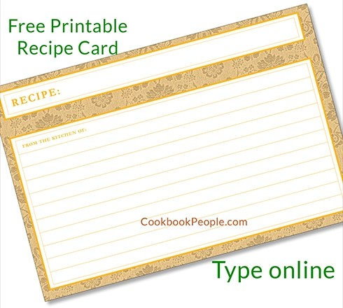 Free Recipe Cards - Cookbook People