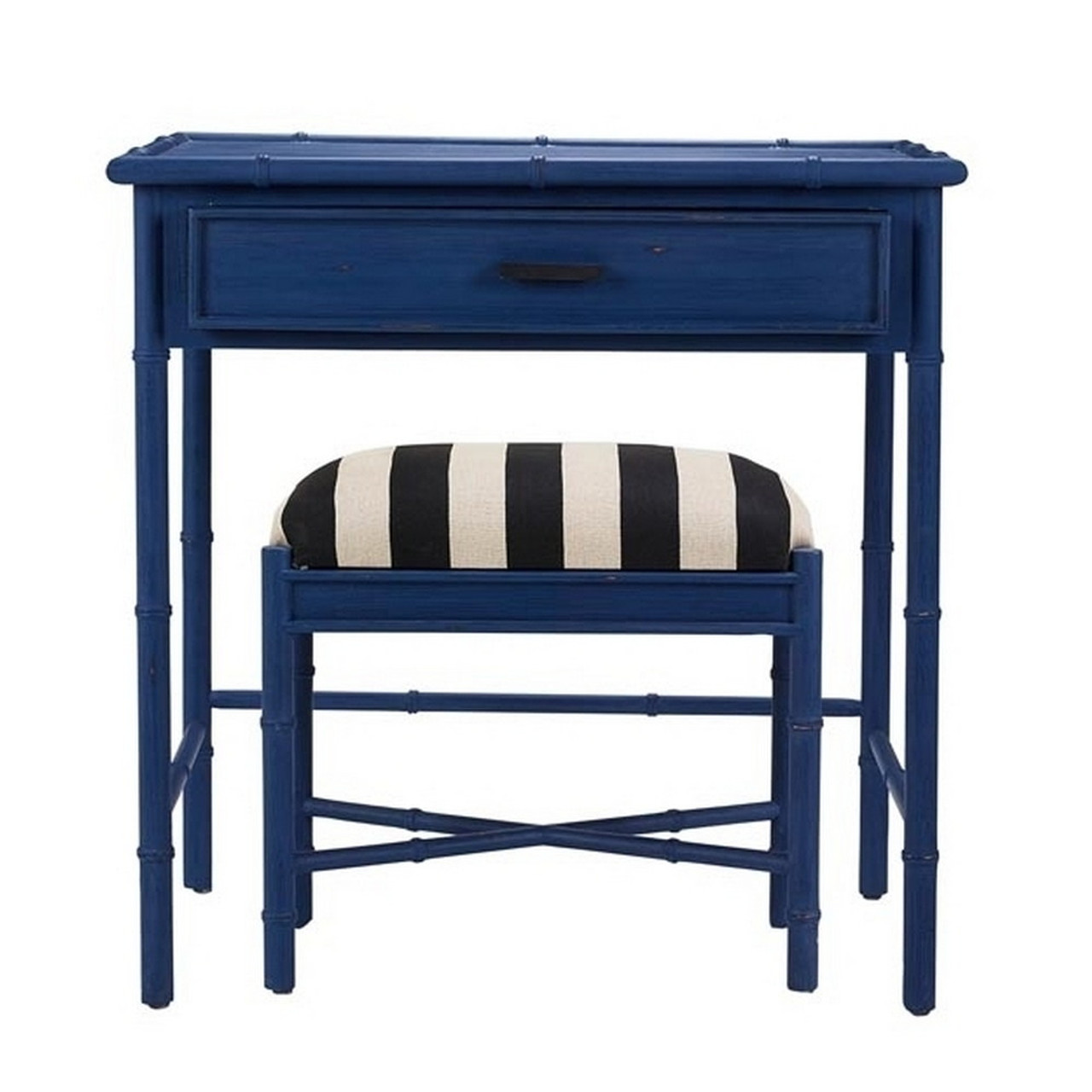 Cane Console W Stool Any Colour Furniture Office Study Desk