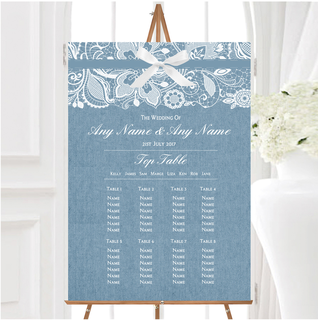 Wohndeko Online Https://www.rateshop.ca/photos-online-personalised-wedding-sign-blue-burlap-venue-decorations-801494/